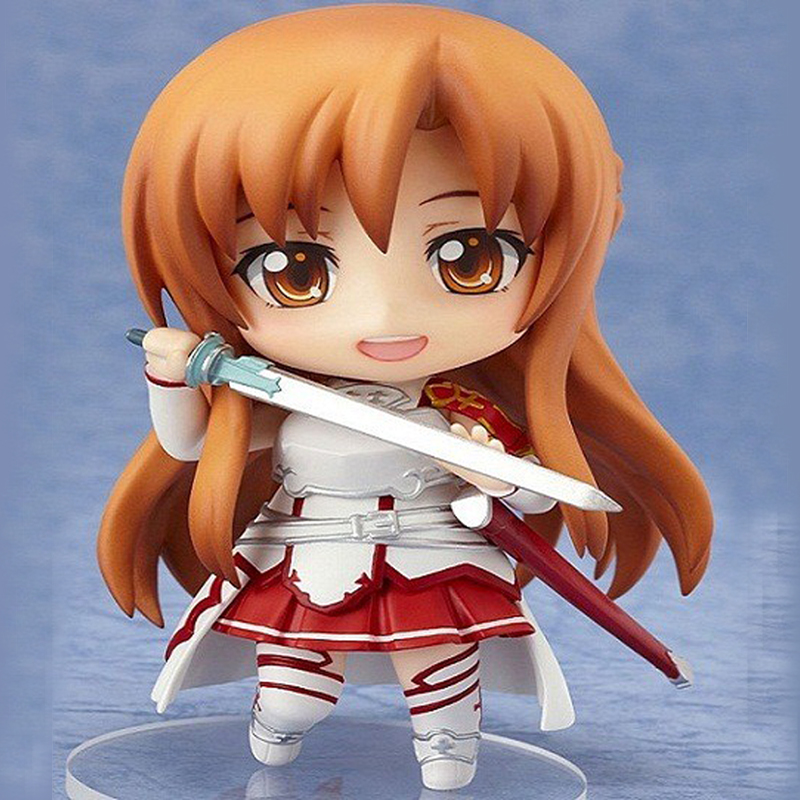 Anime Sword Art Online SAO Yuuki Asuna Pvc Action Figure 10CM Cute Nendoroid Collection Model Kids Hot Toys Doll Birthday Gifts japan anime figma sword art online yuuki asuna sao new pvc action figure collection model toys doll 15cm lc0183