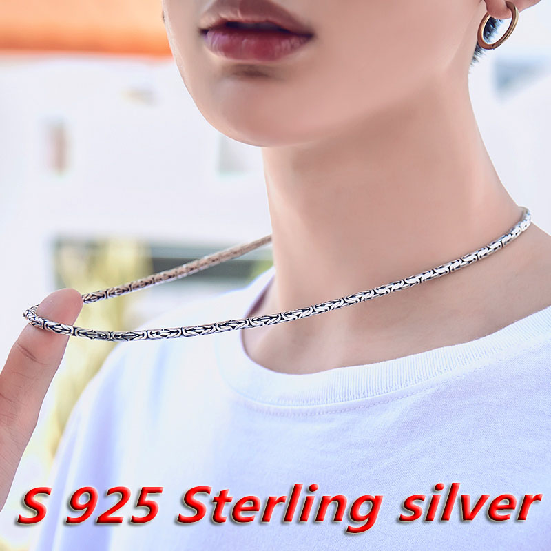 Beier 2018 new store arrive 100% 925 silver sterling necklaces pendants trendy fine jewelry chains for women/men Gift LR-XL002Beier 2018 new store arrive 100% 925 silver sterling necklaces pendants trendy fine jewelry chains for women/men Gift LR-XL002