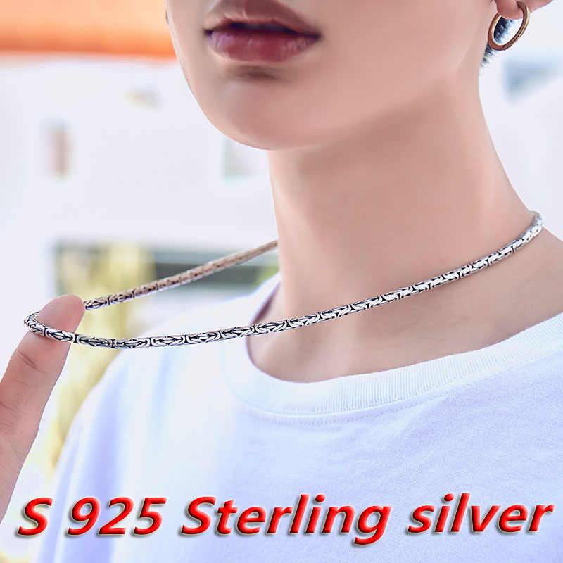 Beier 2018 nowy sklep przyjeżdża 100% 925 srebra sterling naszyjniki wisiorki trendy fine biżuteria łańcuchy dla kobiet/prezent dla mężczyzny LR-XL002