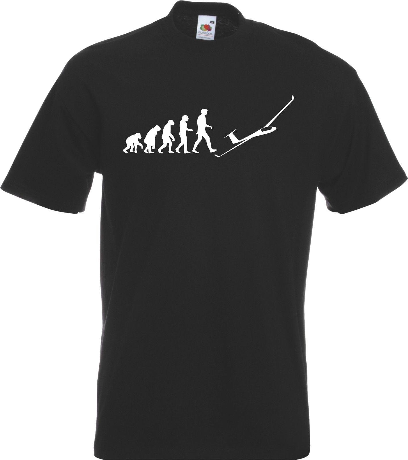2019 Hot Koop Fashion Evolutie Van Glider Pilot Man Zweefvliegen T-shirt Tshirt Nieuwe Alle Maten Kleuren Gift Tee Shirt Verschillende Stijlen