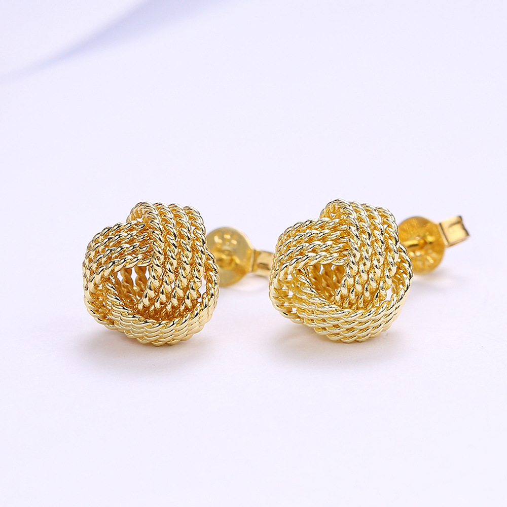 Mossovy Simple Exquisite Ornaments Silver Gold Color Tennis Net Web Accessories  Stud earrings Fashion Jewelry For Women-in Stud Earrings from Jewelry ... 84747e19587b