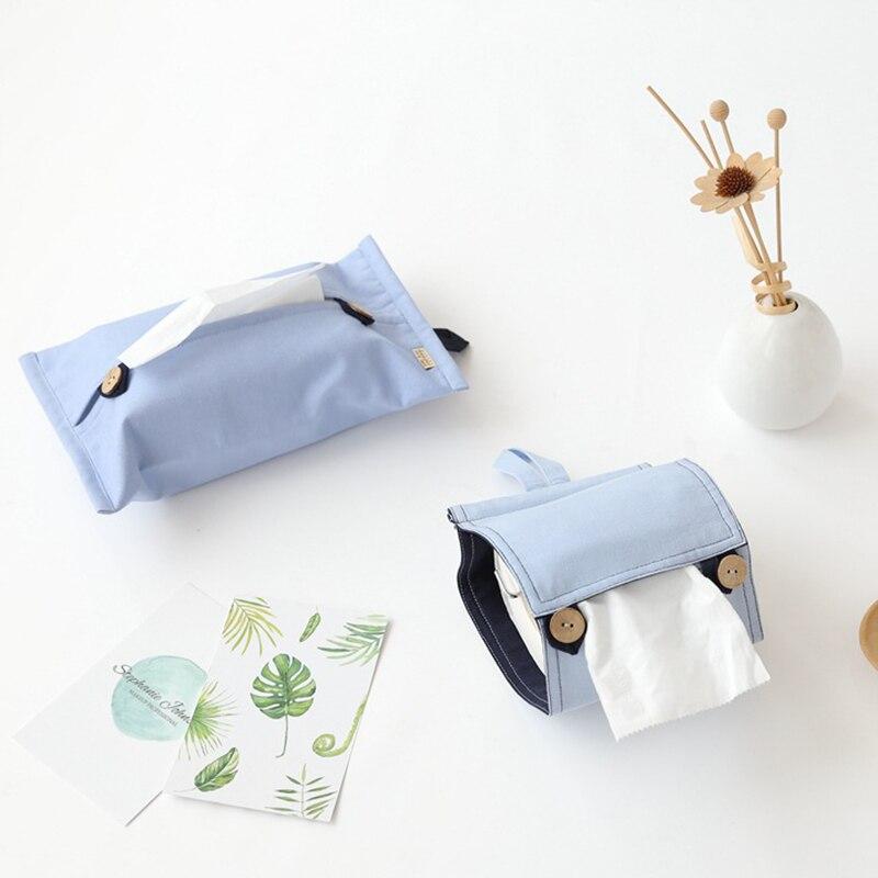 Твердые Цвет с одноразовыми салфетками хлопковое Льняное полотенце Бумага s сумка для хранения Органайзер для хранения автомобиля унитаз бумажные салфетки, носовые платки Обложка Настольный Декор