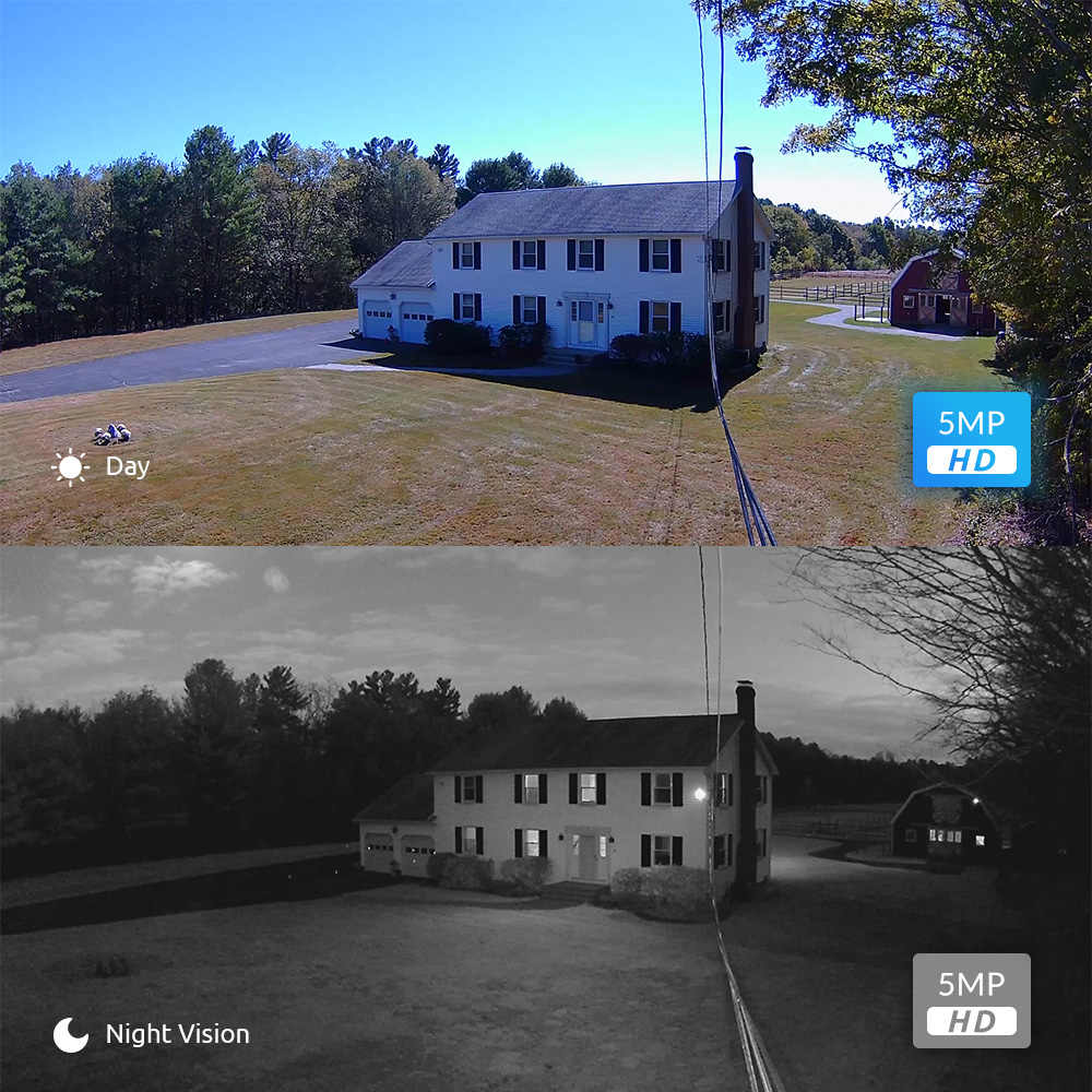 Reolink POE ip Камера HD 5MP Уличная Внутренняя купольная 1920П Домашнее Видеонаблюдение IR Видеокамера RLC-420-2 (2 штуки.)