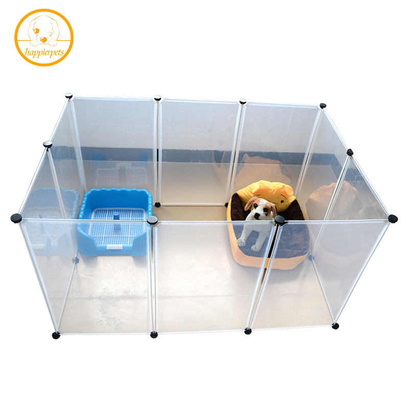Pet Bed House Plastic Transparent Dog Fence DIY Multi