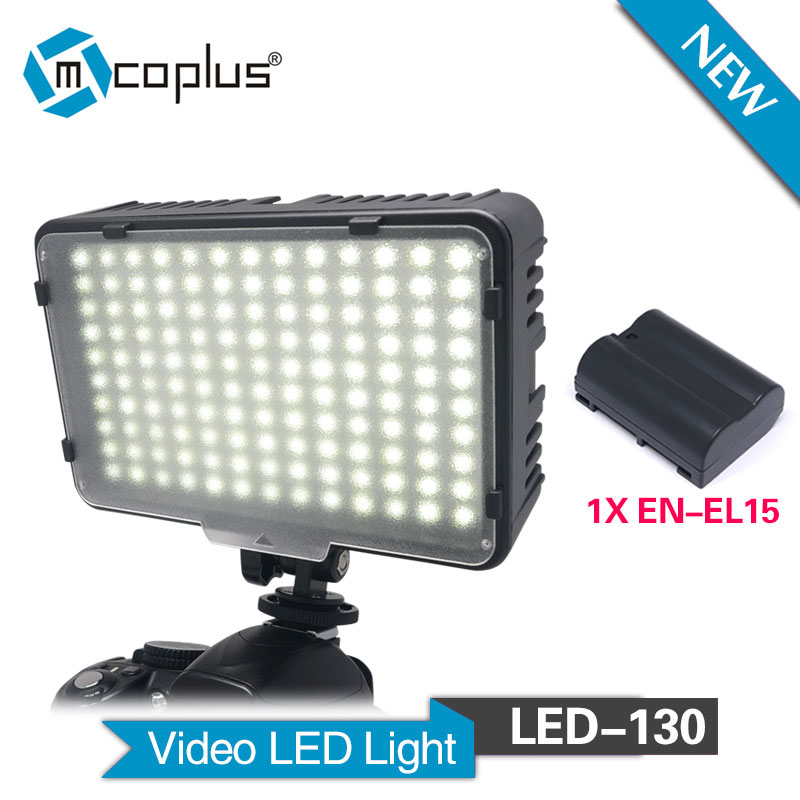 Mcoplus 130pcs LED Video Light for Canon Nikon Sony Pentax Camera Camcorder with 1 x EN