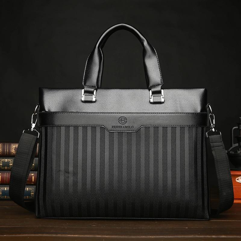 PU new mens casual handbag embossed with foreign trade business man bag single shoulder cross - pack computer bag.
