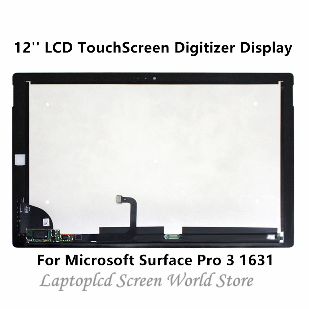 For Microsoft Surface Pro 3 1631 TOM12H20 V1.1 LCD Touch Digitizer Assembly USA