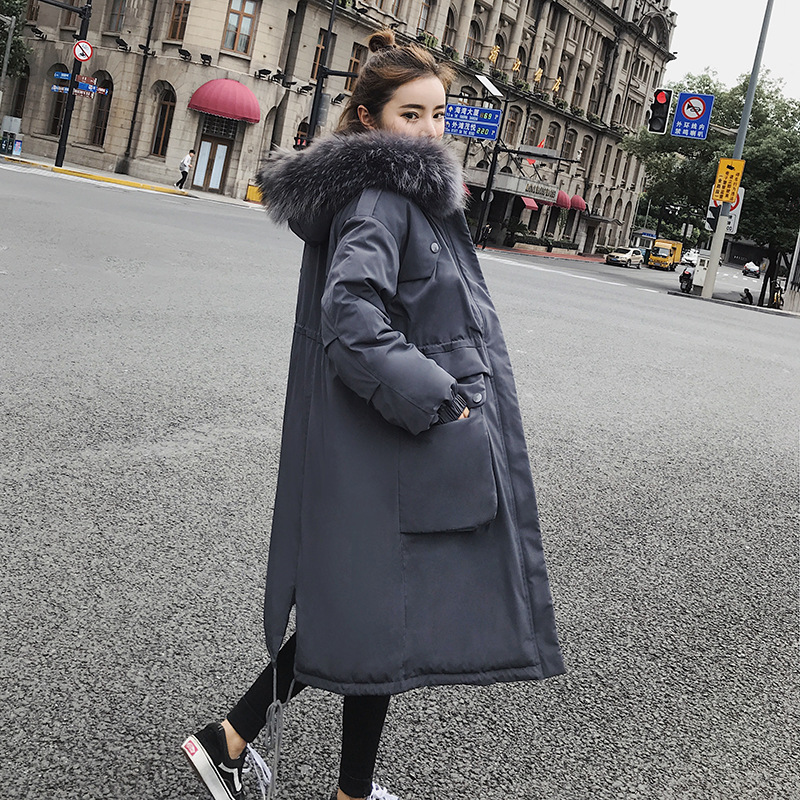 Plus Size Casual Cotton Womens Outwear   Parka   2019 New Fashion Warm Winter Jackets Women Fur Collar Long   Parka