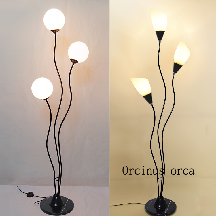 Modern minimalist multi headed bouquet floor lamp living room bedroom bedside lamp modern creative personality LED floor lamp french garden vertical floor lamp modern ceramic crystal lamp hotel room bedroom floor lamps dining lamp simple bedside lights
