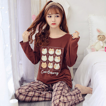 Carton Fashion Women Long Sleeve Sleepwear