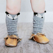 5 Pairs Baby Girls Knee High Fox Socks Boys Cartoon Totoro Toddlers Tights Leg Warm Long Kids Cotton 0-6Year Hot Sale