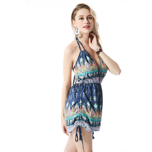 Camis Strap summer women sexy short backless dress