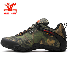 2016 XIANG GUAN man outdoor windproof canvas hiking shoes low boots Anti skid Wear resistant breathable fish climbing snekaers