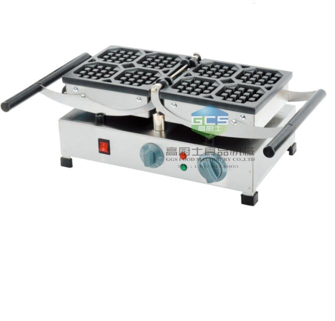 free shipping Electric Belgium waffle making machine 4 pcs a plate
