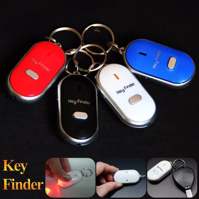 Whistle Key Finder Flashing Beeping Remote Control Lost Keyfinder Locator Keyring with LED Torch 1