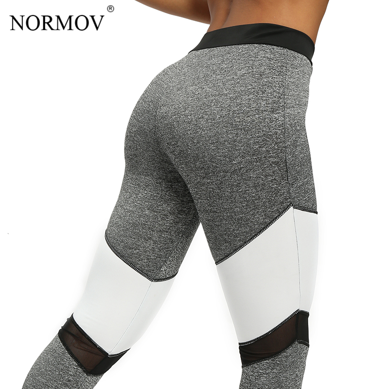 NORMOV Sexy High waist   Leggings   Women Clothing Patchwork Mesh Pants Trousers Female Breathable Leggins Push Up Femme Gothic