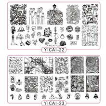 1pc New Flowers Love Nail Art Stamp Stamping Image Plates 40 Styles Stainless Steel Template Polish Tool YICAI0140
