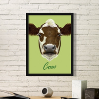 Panda Cow Horse Dog Loris Animal Pet Simple Picture Frame Art Prints Paintings Home Wall Decal Gift