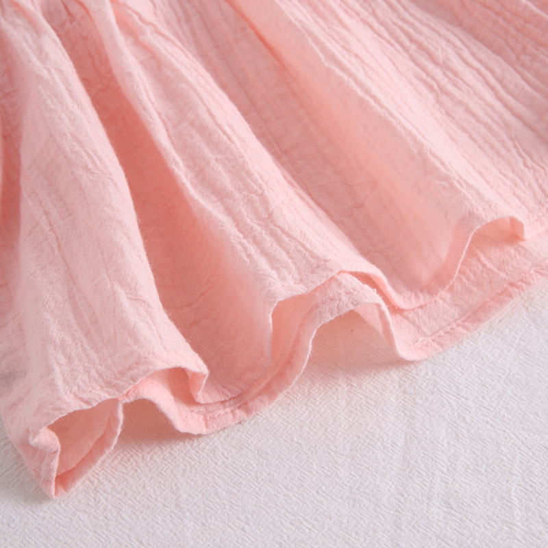Блузка для маленьких девочек Детские рубашки из чистого хлопка свободное летняя одежда для маленьких принцесс детские топы, развевающиеся рукава для девочек, модная рубашка