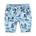 Marca del bebé del algodón de los muchachos niños de los bebe Casual playa pantalones cortos ropa infantil para la edad 2 - 8 T