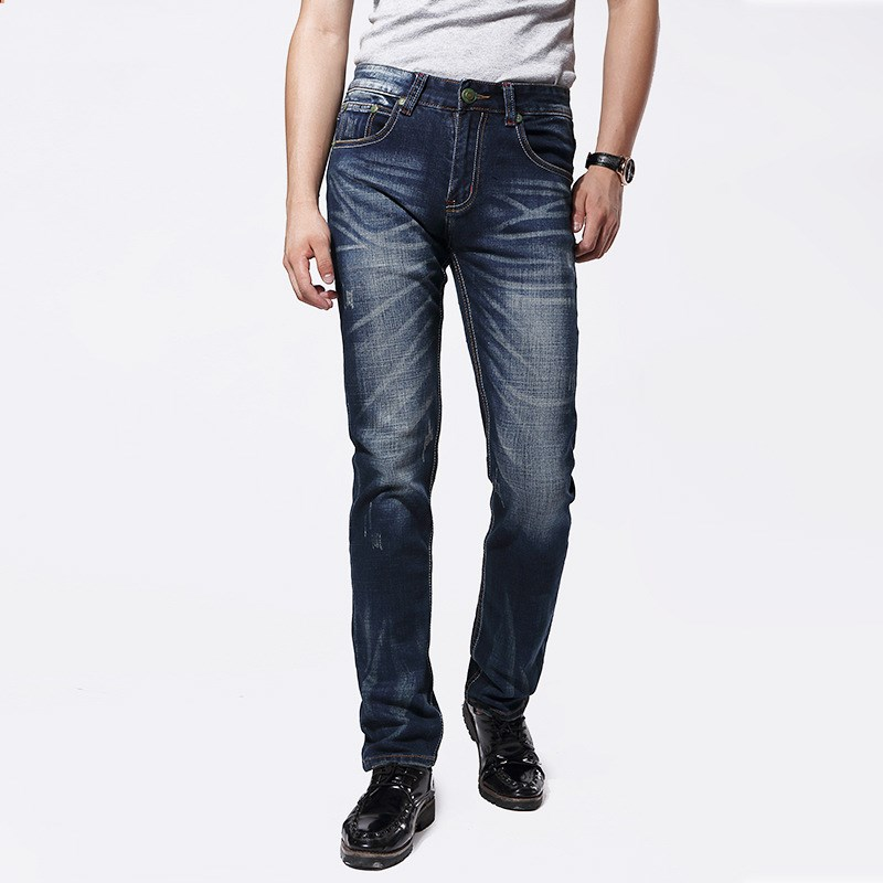 ФОТО The new autumn and winter fashion business men straight stretch jeans