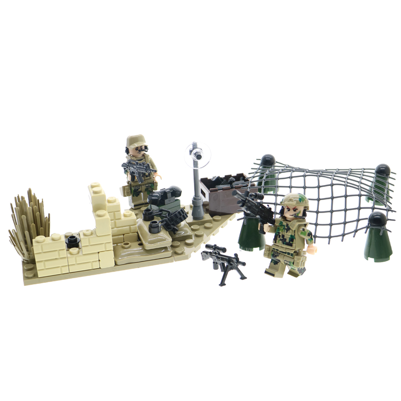WW2 action figures with weapons and guns military German army soldiers building blocks set educational bricks toys for children