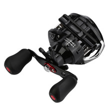 Right or Left Reel Bait Casting Fishing Reel Magnetic andCentrifugal Dual Brake   JULY21