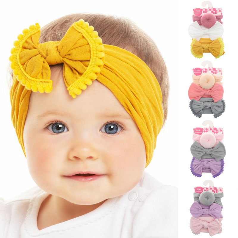 Boburyl 12cm Cute Hair Bows Baby Girl Toddler Kids Bowknot Clip Ribbon Headbands