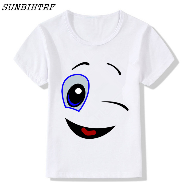 Hospitable Novelty Children's Marshmello Face Smile Cartoon Funny T-shirts Boy And Girl Hip Hop Top Tee Kids Skateboard Tops Baby Shirt Activating Blood Circulation And Strengthening Sinews And Bones