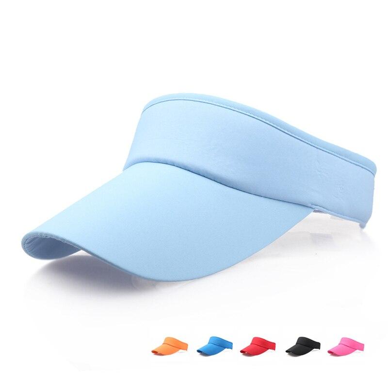 Unisex Cotton Sun Visor Hats Men Women Summer Hat 2019 New Hot Sale Solid Casual Beach Hat Summer Girl Sun Hats for Women
