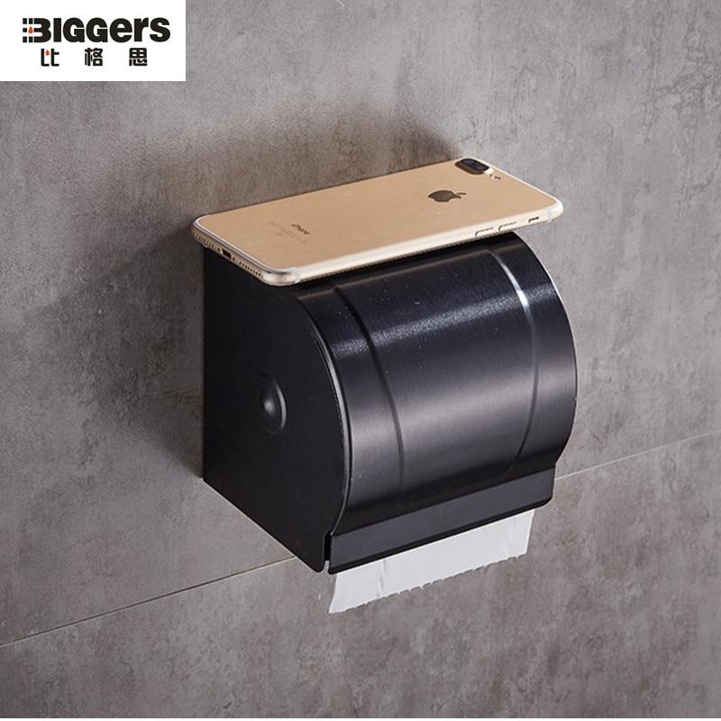 Free shipping Luxury style space aluminium bathroom ... on Wall Mounted Tissue Box Holder id=93073