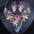 FARLENA Planta Em Forma de JÓIA de Cristal Elegante Strass Colar Brincos set para As Mulheres de Casamento de Moda Conjuntos De Jóias de Noiva