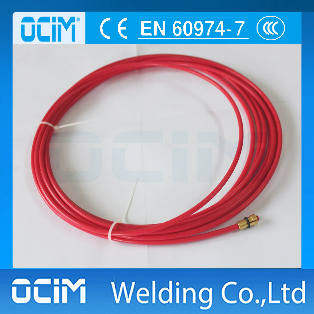 European style MIG MAG PTFE Liner 1.0-1.2 Welding Wire Connectors 3.3M 10.8ft