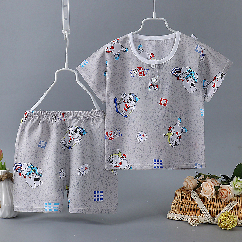 Top Outfits Milk-Silk Shorts Printing Toddlers Baby-Girls-Boys Boutiques Kids Cotton