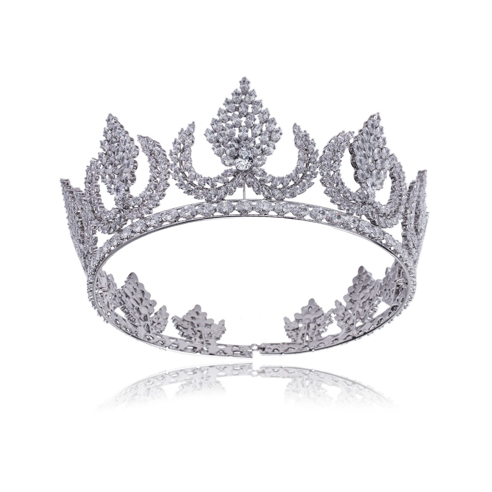 Vintage Trendy Queen King Bridal Tiara Crown Women Headdress Prom Wedding Tiaras And Crowns Hair Jewelry Accessories free shipping star products feather accessories bridal headdress korean bridal hair accessories wedding tiara vintage singer