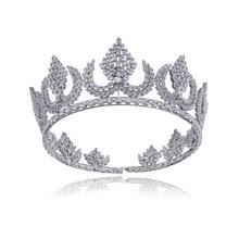 Vintage Trendy Queen King Bridal Tiara Crown Women Headdress Prom Wedding Tiaras And Crowns Hair Jewelry Accessories