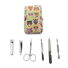 6Pcs/Set 6 Different Kinds Owl Best French Professional Manicure Pedicure Set For Men Women Girl Kid Child Gift