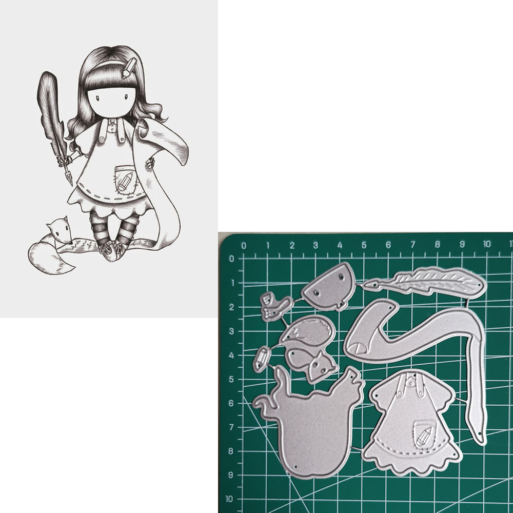 scholar Girl Metal Cutting Dies 2019 Scrapbooking Craft Cut Stamps Embossing Stencils Invitation Card Making