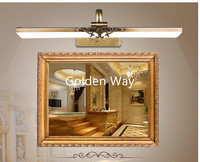 Free Shipping 110v-240v 43cm/51cm/71cm Luxury Bathroom Mirror Lamp Waterproof Retro Bronze Cabinet Vanity Mirror Light Wall Lamp
