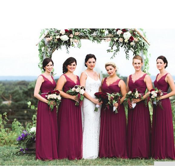 Online Get Cheap Burgundy Bridesmaid Dresses -Aliexpress.com ...