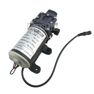 Image 2 - Pompe à eau à membrane haute pression, 12V, 100W, avec interrupteur automatique, 8l/min, dimensions 18.3x10x7.5cm