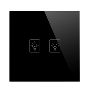 Image 5 - UK Smart Home Light Wall Touch Switch, 86mm Crystal Glass Panel, 2 Gang 1 Way Wall Tact Switch,AV 180 250V, 50 W