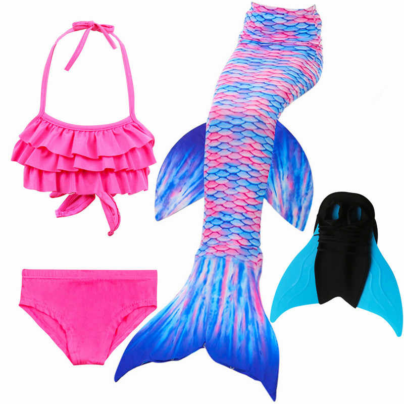 ad63de19f505f Little Mermaid Tails Monofin for Swimming Costume Mermaid Tail Cosplay  Girls Swimsuit Kids ...