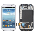 LCD Display For Samsung Galaxy S3 Neo I9300i GT-I9300i Touch Screen Digitizer+Bezel Frame Assembly, 4.8'' inch White Blue