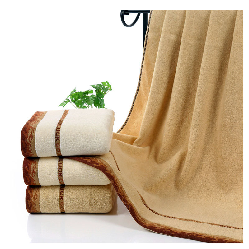100 cotton bath towel solid large beach towels for adults home bathroom - Large Beach Towels