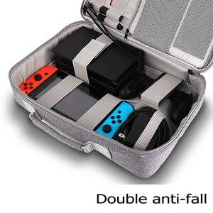 Image 3 - S/M/L 스위치 스토리지 가방 닌텐도 스위치 게임 콘솔 액세서리 여행 핸드백 NS 보호 케이스 유리 필름 3in1 세트