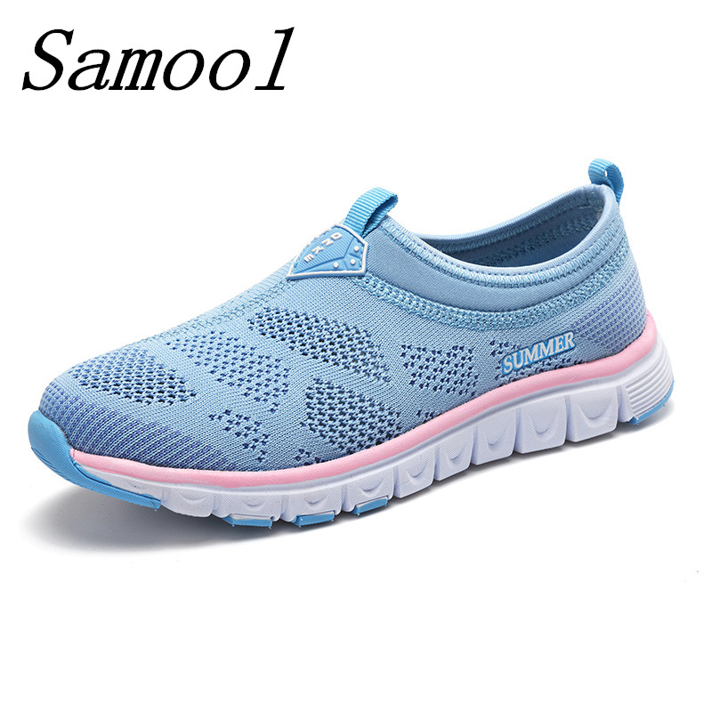 New Women Light Sneakers Summer Breathable Mesh Female Casual Shoes Lady Walking Outdoor Slip-on Comfortable zapatos mujer jy3 women running shoes light sneakers summer breathable mesh girl trainers walking outdoor sport comfortable free shipping run