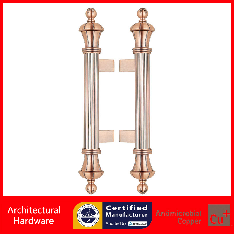 Entrance Door Handle Antique Copper Pull Handles PA-828-32*500mm For Glass/Wooden/Frame Doors antimicrobial black solid nylon offset door pull handle for entrance glass wooden metal frame doors pa 797
