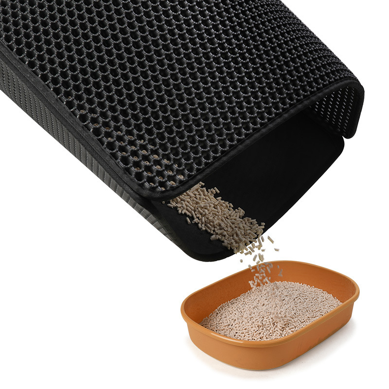 Waterproof Pet Cat Litter Mat EVA Double Layer Cat Litter Trapping Pet Litter Cat Mat Clean Pad Products For Cats Accessories in Cat Beds Mats from Home Garden