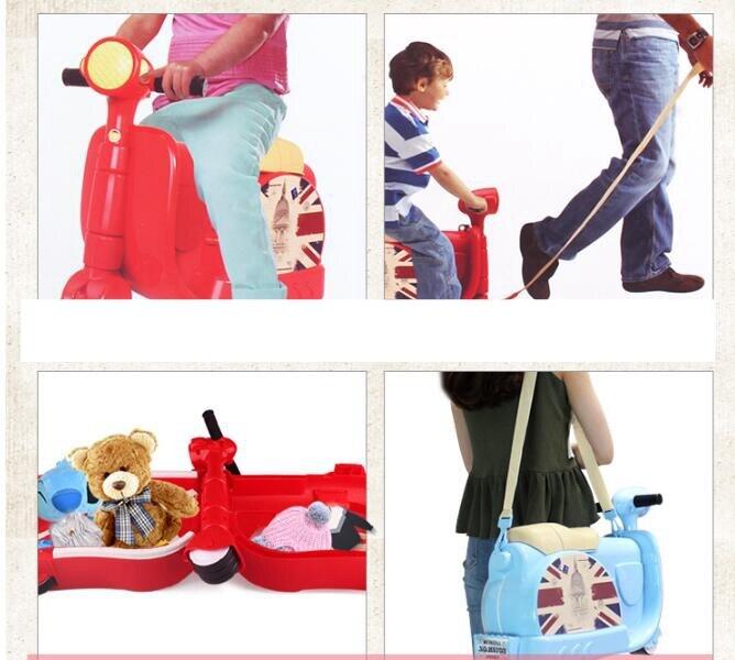 o bebê crianças viagem trole rolando bagagem sacos